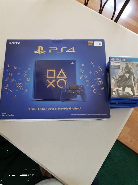 Grote foto new ps4 pro console spelcomputers games playstation 4