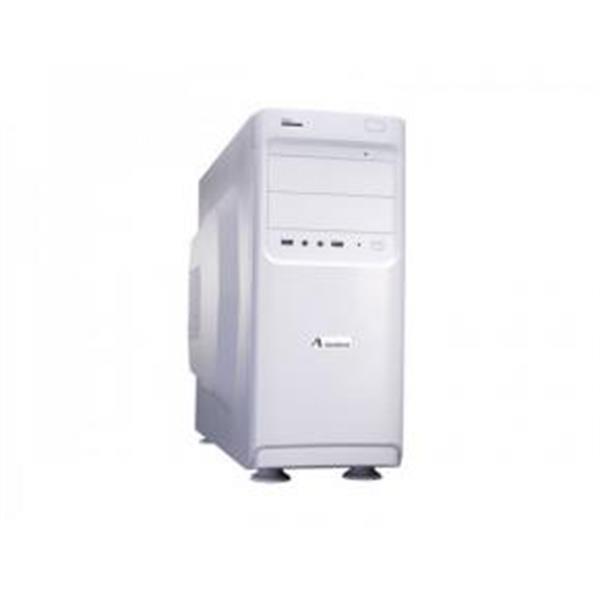 Grote foto adj 200 00009 white midi tower atx 580w 5.25x11 3.5x9 p computers en software behuizingen en kasten