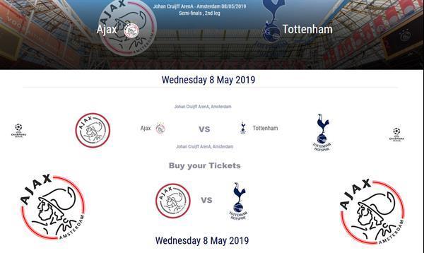 Grote foto 4 tickets ajax v tottenham champions league 2019 tickets en kaartjes voetbal