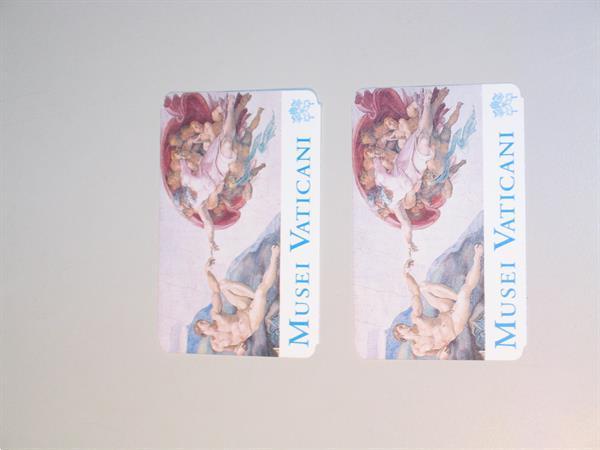Grote foto gebruikte tickets museum musei vaticani 2006 hobby en vrije tijd evenementen