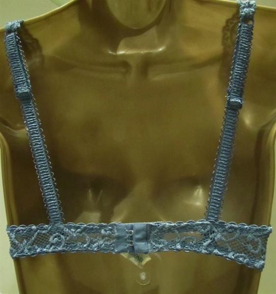 Grote foto jeansblauwe balconette bh van passionata 70b kleding dames ondergoed en lingerie merkkleding
