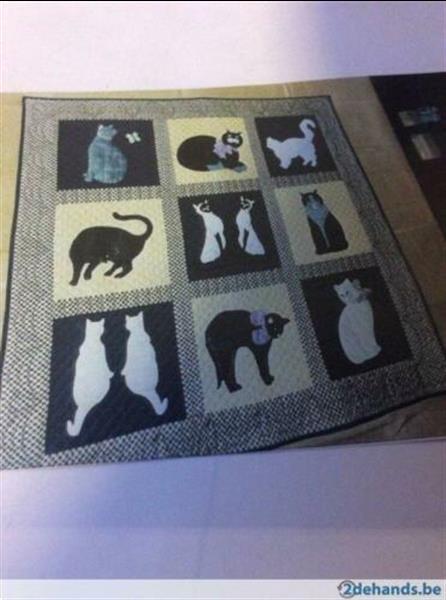 Grote foto patchwork patroon katten quilt hobby en vrije tijd naaien en fournituren