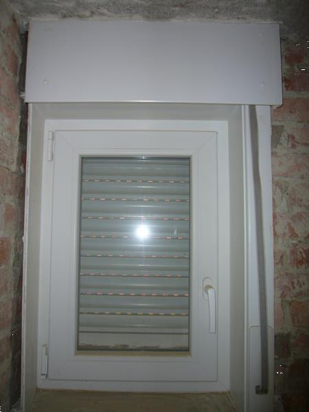 Grote foto venster wit met rolluik 81 5cm 56cm doe het zelf en verbouw glas en ramen