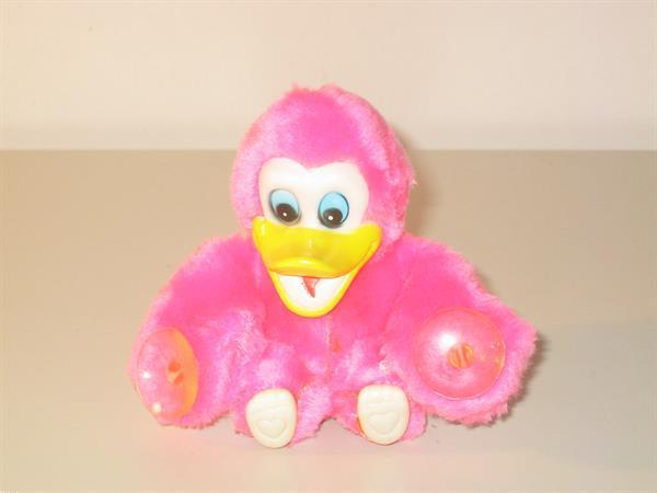 Grote foto pluche eendje roze kinderen en baby knuffels en pluche