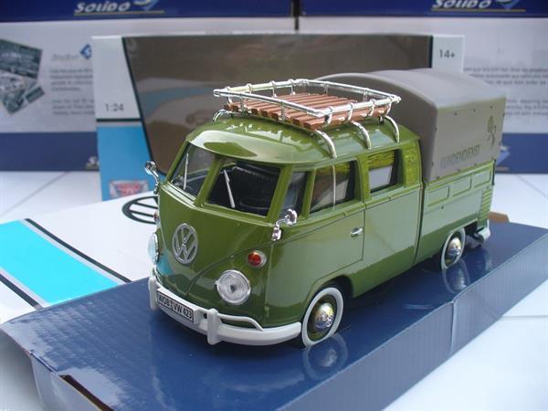 Grote foto motormax 1 24 vw volkswagen t1 pick up groen hobby en vrije tijd 1 24