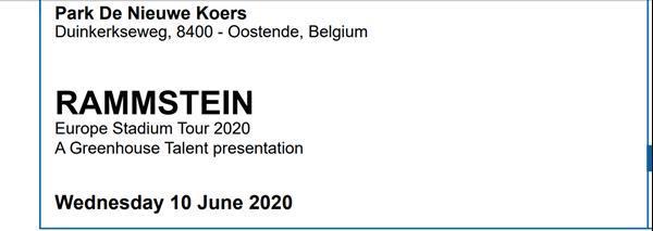 Grote foto rammstein tickets belgi oostende 2020 tickets en kaartjes rock en metal