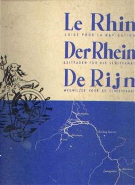 Grote foto de rijn wegwijzer voor de scheepvaart 1961 boeken atlassen en landkaarten