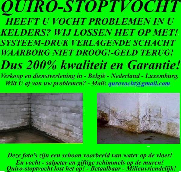 Grote foto lekken en wateroverlast oplossen in kelders. diensten en vakmensen bouw en reparatie