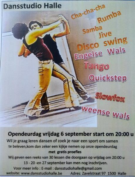 Grote foto opendeur op 6 september om 20 00 u sport en fitness dansen en ballet