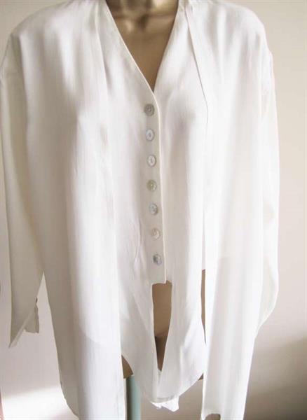 Grote foto chique roomkleurige dubbele blouse 36 38 kleding dames blouses
