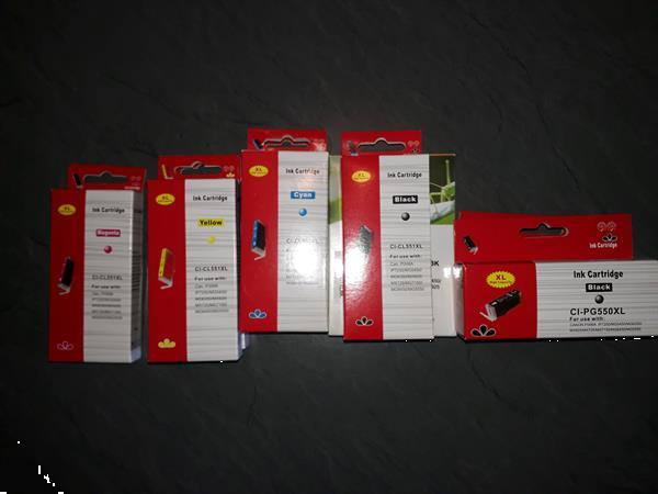 Grote foto nieuwe ongebruikte inktpatronen computers en software inktcartridges