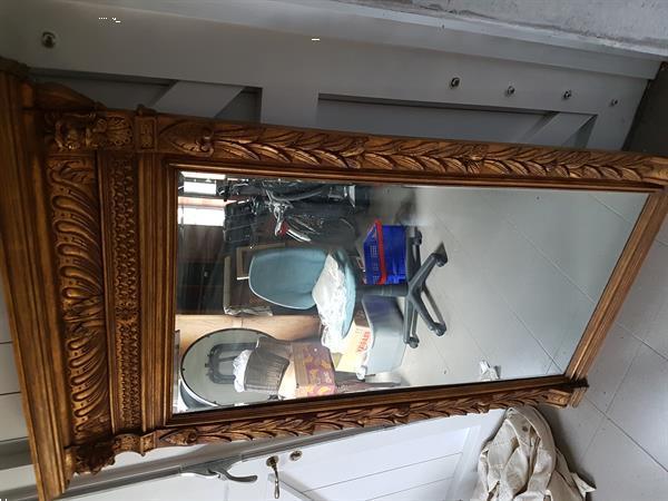 Grote foto grote vergulde spiegel antiek en kunst spiegels