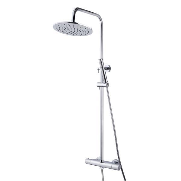 Grote foto regendoucheset wiesbaden caral paris met handdouche chroom doe het zelf en verbouw sanitair