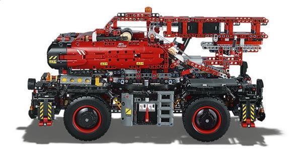Grote foto lego technic 42082 kraan voor alle terreinen kinderen en baby duplo en lego