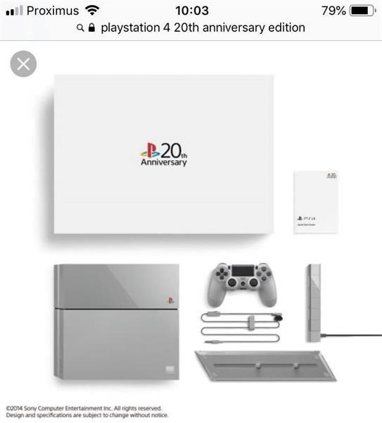 Grote foto sony playstation 4 20th anniversary spelcomputers games playstation 4