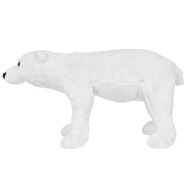 Grote foto vidaxl speelgoedijsbeer staand xxl pluche wit kinderen en baby knuffels en pluche