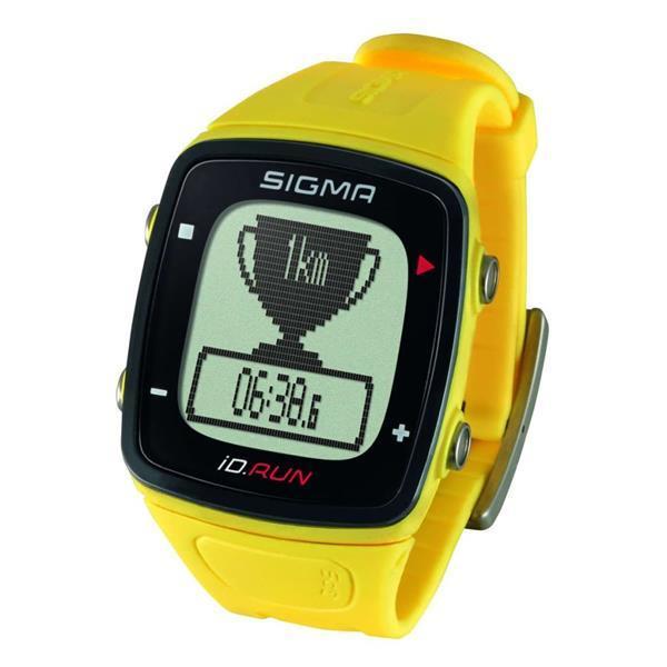 Grote foto sigma sporthorloge gps id.run geel 24810 sport en fitness onderdelen en accessoires