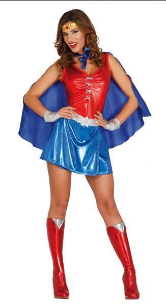 Grote foto superheld kostuum wonder dames kleding dames carnavalskleding en feestkleding