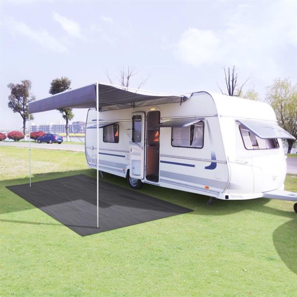 Grote foto vidaxl tenttapijt 250x500 cm antraciet caravans en kamperen tenten