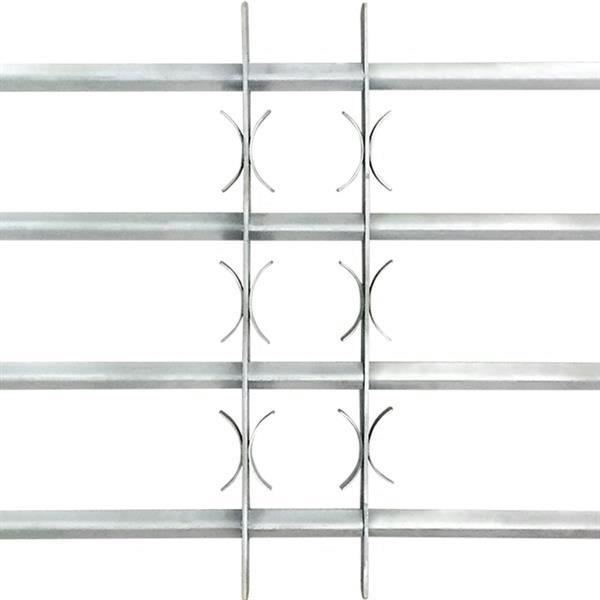 Grote foto vidaxl raambeveiliging verstelbaar met 4 dwarsbalken 700 105 doe het zelf en verbouw glas en ramen