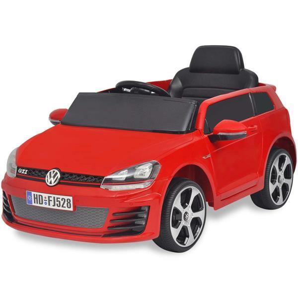 Grote foto vidaxl elektrische auto vw golf gti 7 rood 12 v met afstands kinderen en baby los speelgoed