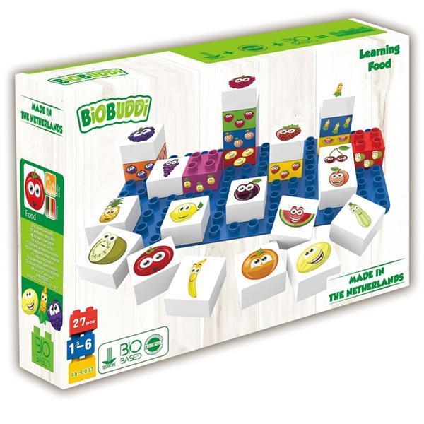 Grote foto biobuddi bouwblokken set fruit 27 delig bb 0003 kinderen en baby duplo en lego