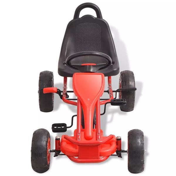 Grote foto vidaxl skelter met pedalen en pneumatische banden rood kinderen en baby los speelgoed