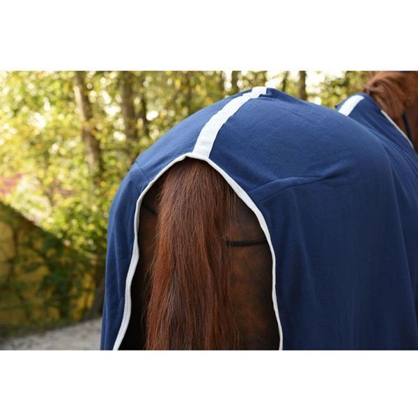 Grote foto kerbl fleece deken rugbe economic 125 175 cm marineblauw 328 dieren en toebehoren paarden accessoires