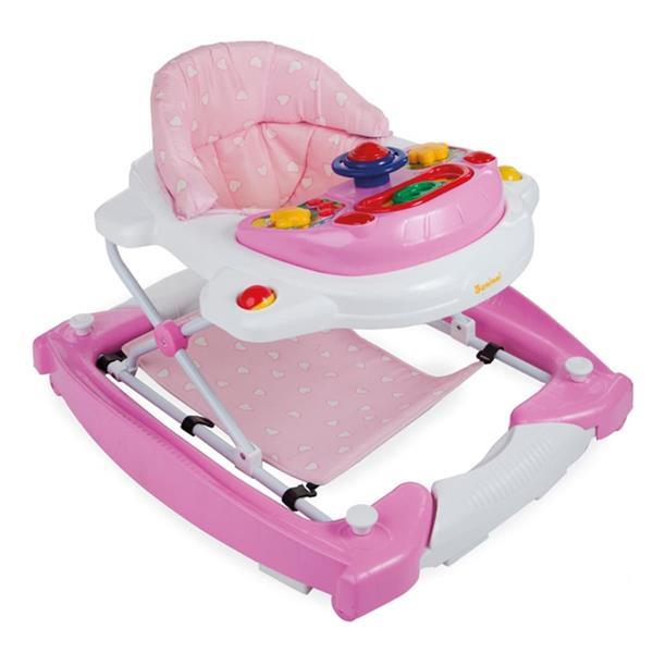 Grote foto baninni loopstoel 2 in 1 classic roze bnbw002 lpk kinderen en baby overige babyartikelen