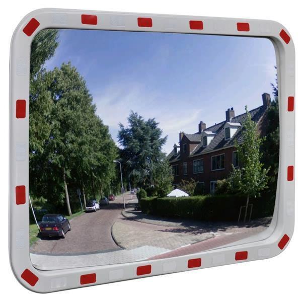 Grote foto vidaxl verkeersspiegel rechthoek met reflectoren 60x80 cm zakelijke goederen overige zakelijke goederen