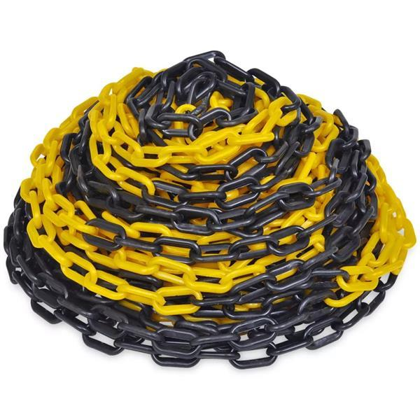 Grote foto vidaxl veiligheidsketting 30 m kunststof geel en zwart zakelijke goederen overige zakelijke goederen