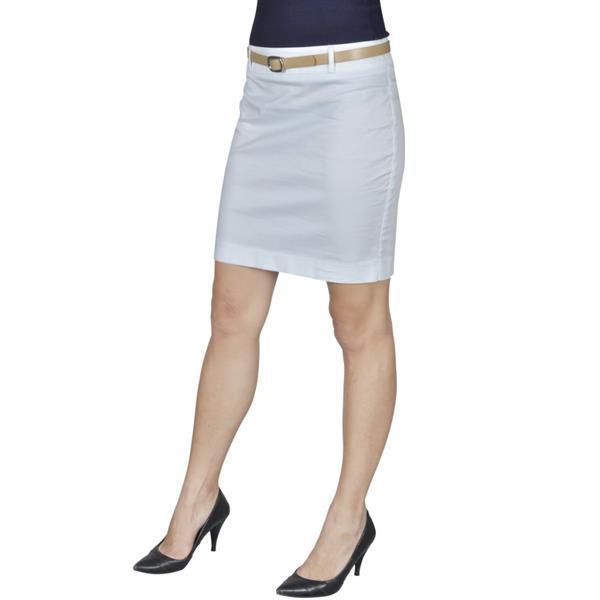 Grote foto vidaxl minirok met riem maat 34 wit kleding dames jurken en rokken