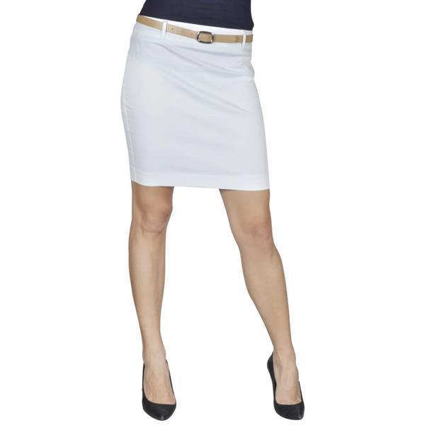 Grote foto vidaxl minirok met riem maat 38 wit kleding dames jurken en rokken