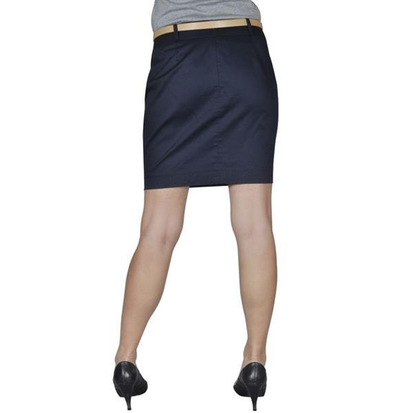 Grote foto vidaxl minirok met riem maat 36 marineblauw kleding dames jurken en rokken