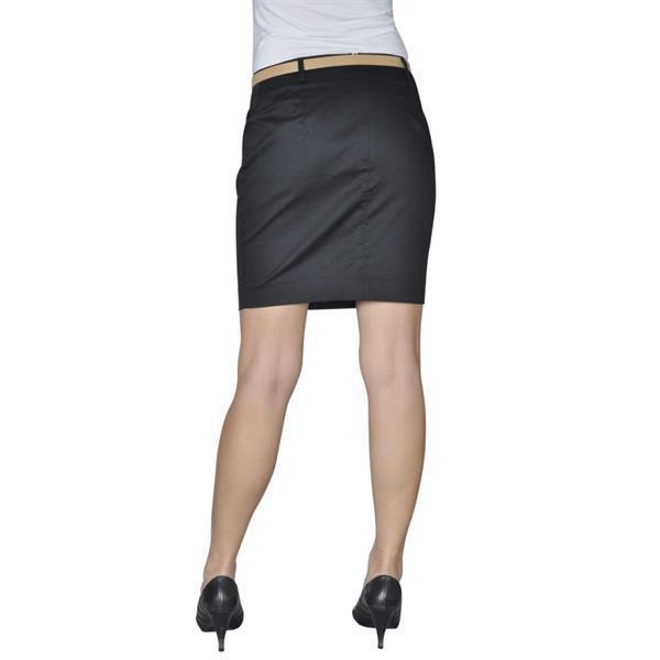 Grote foto vidaxl minirok met riem maat 38 zwart kleding dames jurken en rokken