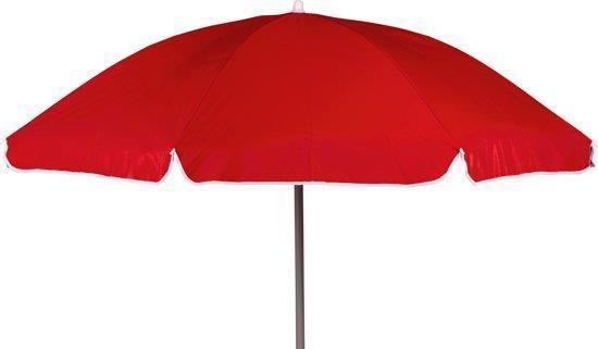 Grote foto parasol met knikarm dia. 200 cm rood 19ga 25 tuin en terras tuinmeubelen