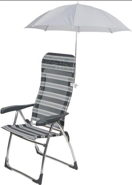 Grote foto camp gear stoelparasol universeel dia. 106 cm grijs 1 tuin en terras tuinmeubelen