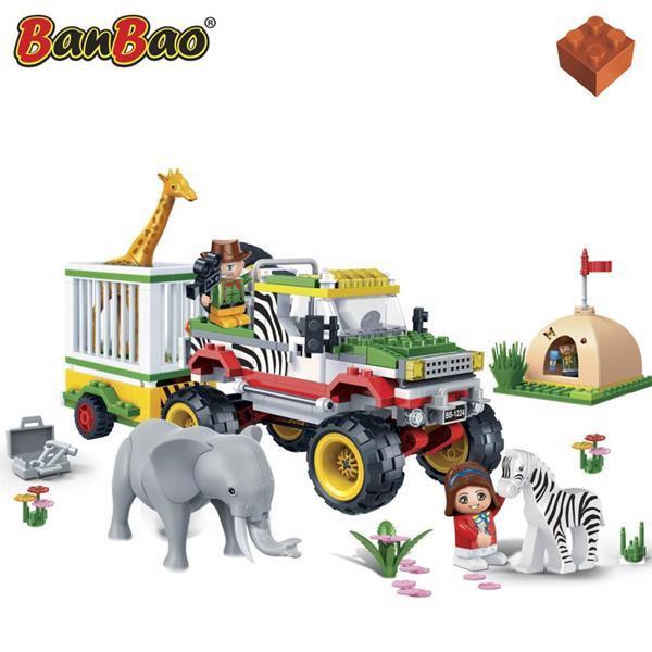 Grote foto banbao safari jeep met kooi 6653 kinderen en baby duplo en lego