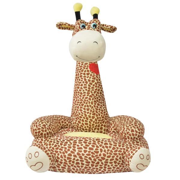 Grote foto vidaxl kinderstoel pluche giraffe bruin kinderen en baby kinderstoelen