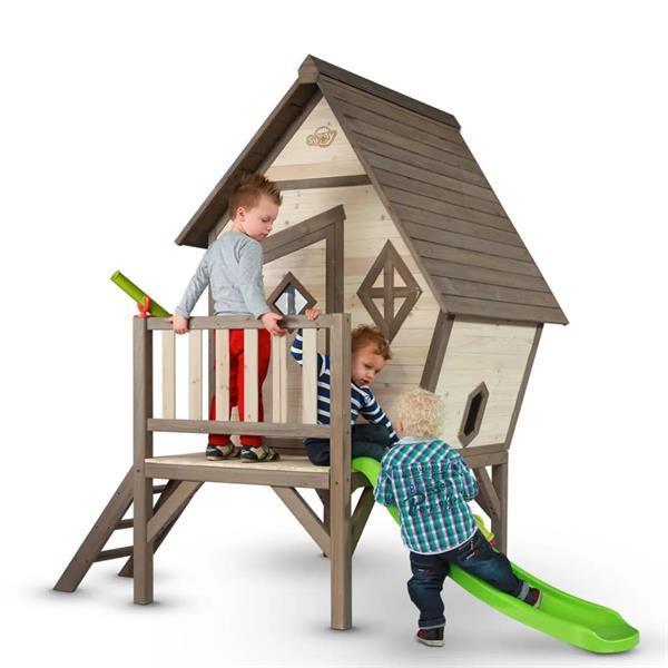 Grote foto sunny kinderspeelhuis cabin xl met glijbaan c050.004.00 kinderen en baby los speelgoed