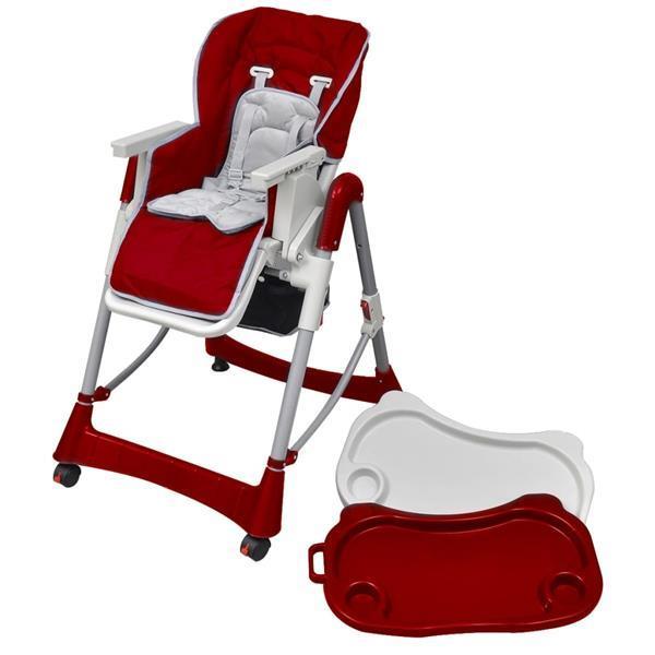 Grote foto vidaxl kinderstoel deluxe in hoogte verstelbaar bordeauxrood kinderen en baby kinderstoelen