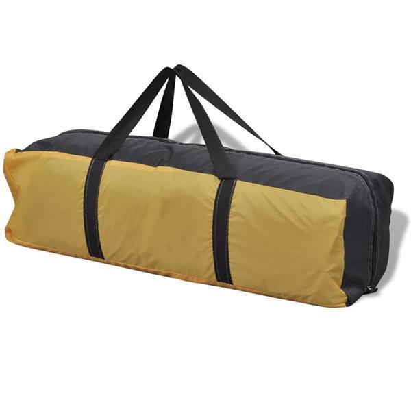 Grote foto vidaxl tent 4 personen geel caravans en kamperen tenten