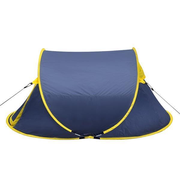 Grote foto vidaxl pop up tent 2 personen marineblauw geel caravans en kamperen tenten