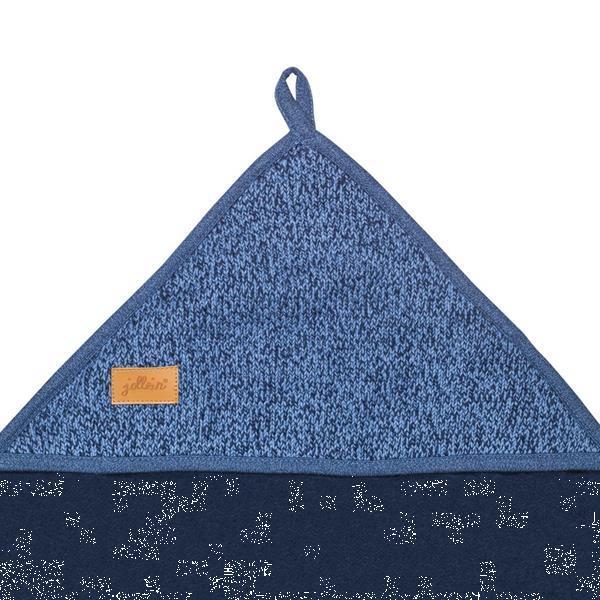 Grote foto jollein badcape 75x75 cm stonewashed knit navy 534 836 65062 kinderen en baby overige