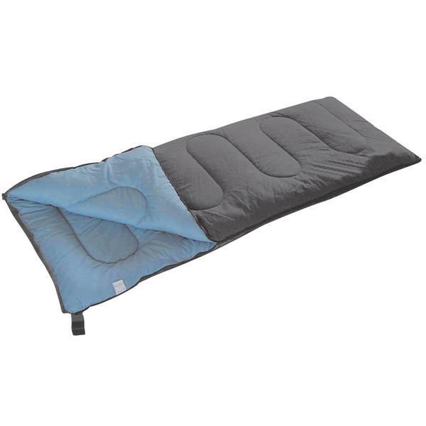 Grote foto camp gear slaapzak populair 200x80 cm grijs en blauw 3605752 caravans en kamperen overige caravans en kamperen