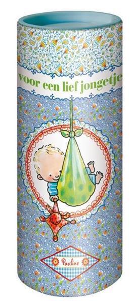 Grote foto rompertje in cadeau koker blauw kinderen en baby overige