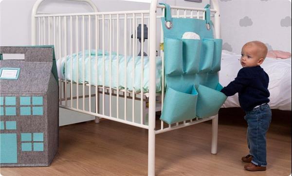 Grote foto vilten speelhuis speelgoedkist playhouse mint blauw kinderen en baby complete kinderkamers