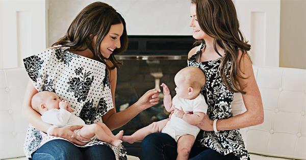 Grote foto borstvoedingsdoek marilyn beauty en gezondheid baby en peuter verzorging