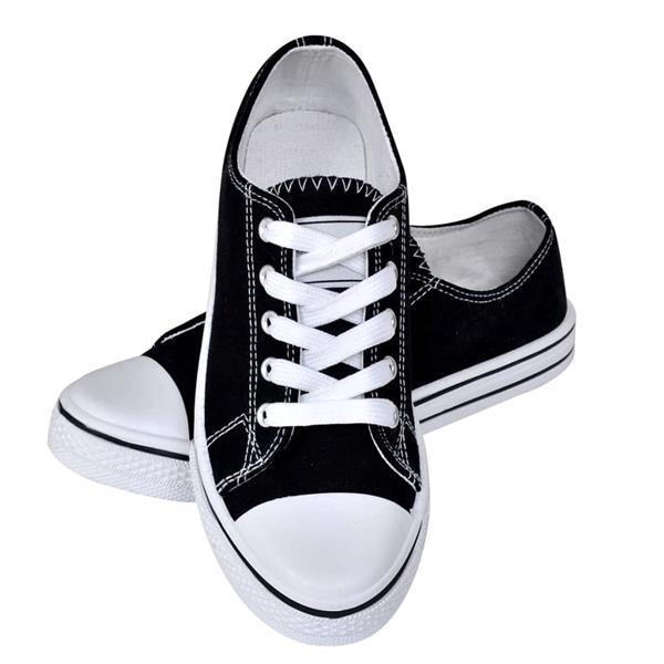 Grote foto vidaxl klassieke lage dames sneakers zwart maat 38 kleding heren schoenen