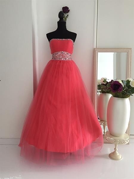 Grote foto opruiming prinsessenjurk kleur perzik mt 32 t m 40 kleding dames gelegenheidskleding